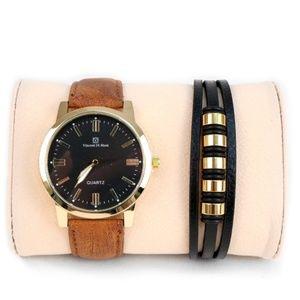 Men's Watch & Bracelet Gift Set -